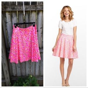 Lilly Pulitzer Meadow Skirt Fiesta Pink EUC 10